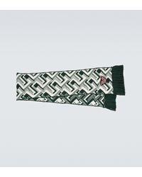 Prada Écharpe en jacquard de laine et cachemire - Vert