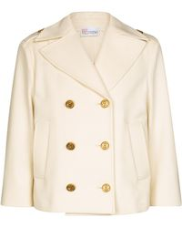 RED Valentino Wool-blend Jacket - Natural