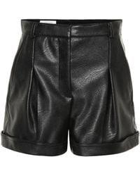 Stella McCartney - Danielle Faux Leather Shorts - Lyst