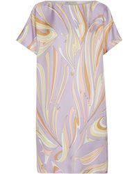Emilio Pucci Short-sleeved Silk Minidress - Purple