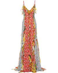 Carolina Herrera Vestido de fiesta de chifón floral - Multicolor