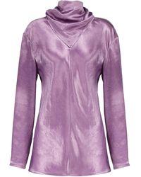 Bottega Veneta Cupro Tunic Top - Purple