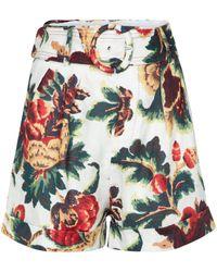 Sir. The Label Shorts Ambroise de lino tiro alto - Multicolor