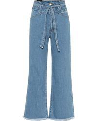 J Brand High-Rise Wide Jeans Sukey - Blau