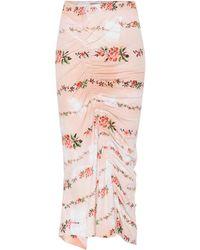 Preen By Thornton Bregazzi - Floral-printed Stretch Crêpe Skirt - Lyst
