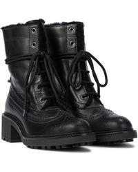 Chloé Ankle Boots Franne aus Leder - Schwarz