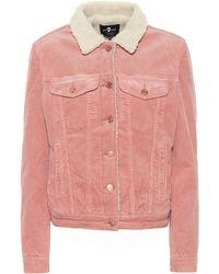 7 For All Mankind Modern Trucker Corduroy Jacket - Pink