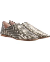 Acne Studios - Aminatha Leather Babouche Slippers - Lyst
