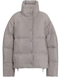Acne Studios - Striped Cotton-blend Down Jacket - Lyst