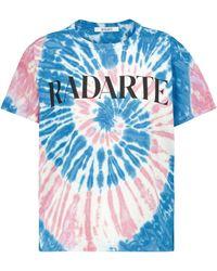 Rodarte T-shirt Radarte en coton tie & dye - Bleu