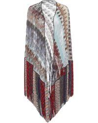 Missoni Stola in maglia lamé con frange - Multicolore