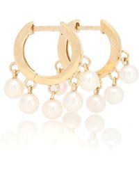 Sydney Evan Boucles d'oreilles en or 14 ct à perles - Métallisé