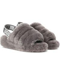 UGG - Fluff Yeah Sheepskin Slingback Slippers - Lyst