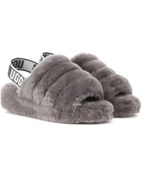 UGG Fluff Yeah Fur Slides - Gray