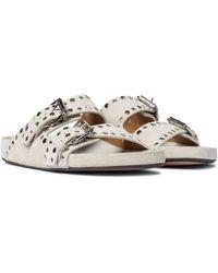 Isabel Marant Lennyo Suede Sandals - White