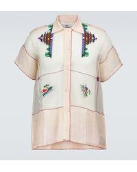 Bode Camisa de algodón estampada - Rosa
