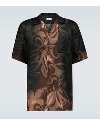 Dries Van Noten Dip-dye Short-sleeved Shirt - Black