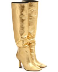 Wandler Lina Point-toe Knee-high Leather Boots - Yellow