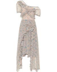 Preen By Thornton Bregazzi Robe imprimée en crêpe asymétrique - Multicolore