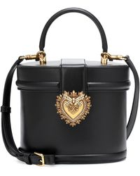 Dolce & Gabbana Devotion Leather Bucket Bag - Black