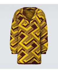 Prada Jacquard-Pullover aus Wolle - Gelb