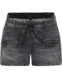 Unravel Project Shorts di jeans - Nero