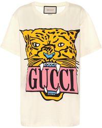 Gucci - Camiseta de algodón estampada - Lyst