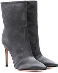Gianvito Rossi - Exclusive To Mytheresa.com – Melanie Satin Ankle Boots - Lyst