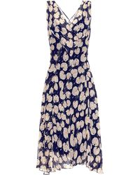 Diane von Furstenberg Dita Printed Silk-blend Dress - Blue