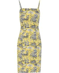 STAUD Basset Printed Poplin Dress - Yellow