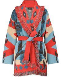 Alanui Desert Bloom Cashmere And Linen Cardigan - Multicolour