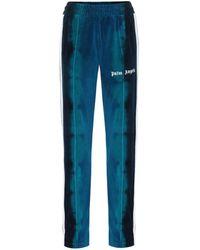 Palm Angels Jogginghose aus Samt - Blau