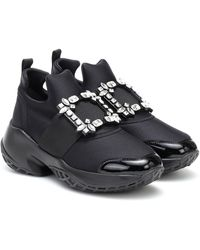 Roger Vivier Sneakers Viv' Run con cristalli - Nero