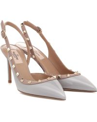 Valentino Rockstud Leather Slingback Court Shoes - Multicolour