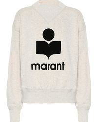 Étoile Isabel Marant Moby Cotton-blend Sweatshirt - Gray