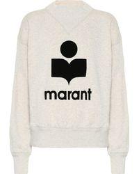 Étoile Isabel Marant Sweat-shirt Moby en coton mélangé - Gris