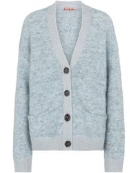 Acne Studios Mohair And Wool-blend Cardigan - Blue