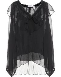 See By Chloé - Silk-georgette Blouse - Lyst