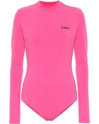 Kirin Logo Stretch-cotton Bodysuit - Pink