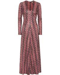 ALEXACHUNG Robe longue imprimée - Rose