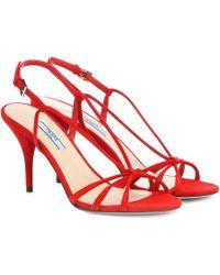 Prada - Sandalen aus Veloursleder - Lyst
