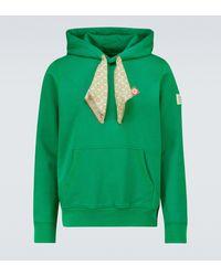 CASABLANCA Sweat-shirt à capuche en coton à imprimé - Vert