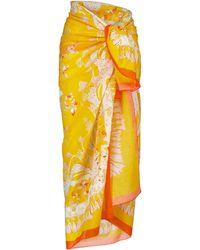 Emilio Pucci Bedruckter Sarong aus Baumwolle - Gelb