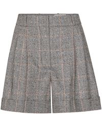 Alexander McQueen Checked Wool Shorts - Multicolor