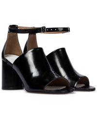 Maison Margiela Tabi Leather Sandals - Black