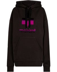 Étoile Isabel Marant Mansel Logo Cotton-blend Hoodie - Black