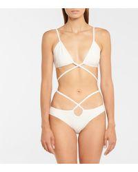 Christopher Esber Wrapround Triangle Bikini Top - White
