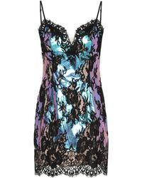 Christopher Kane Floral-lace Minidress - Blue