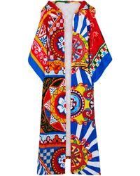 Dolce & Gabbana Hooded Cotton Terrycloth Robe - Multicolor