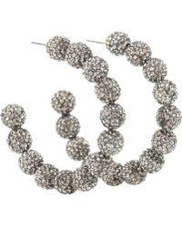 Lele Sadoughi - Stardust Crystal Hoop Earrings - Lyst